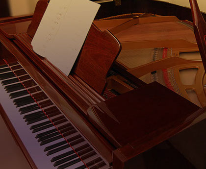 Our Piano Showroom of grrand pianos, upright pianos and other musical instrumentts.